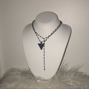 Jewelry - Gunmetal Rosary Necklaces